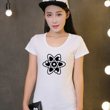 2016 Cotton Short-Sleeved Chemistry Atom Tees Women Shirts Casual T Shirt