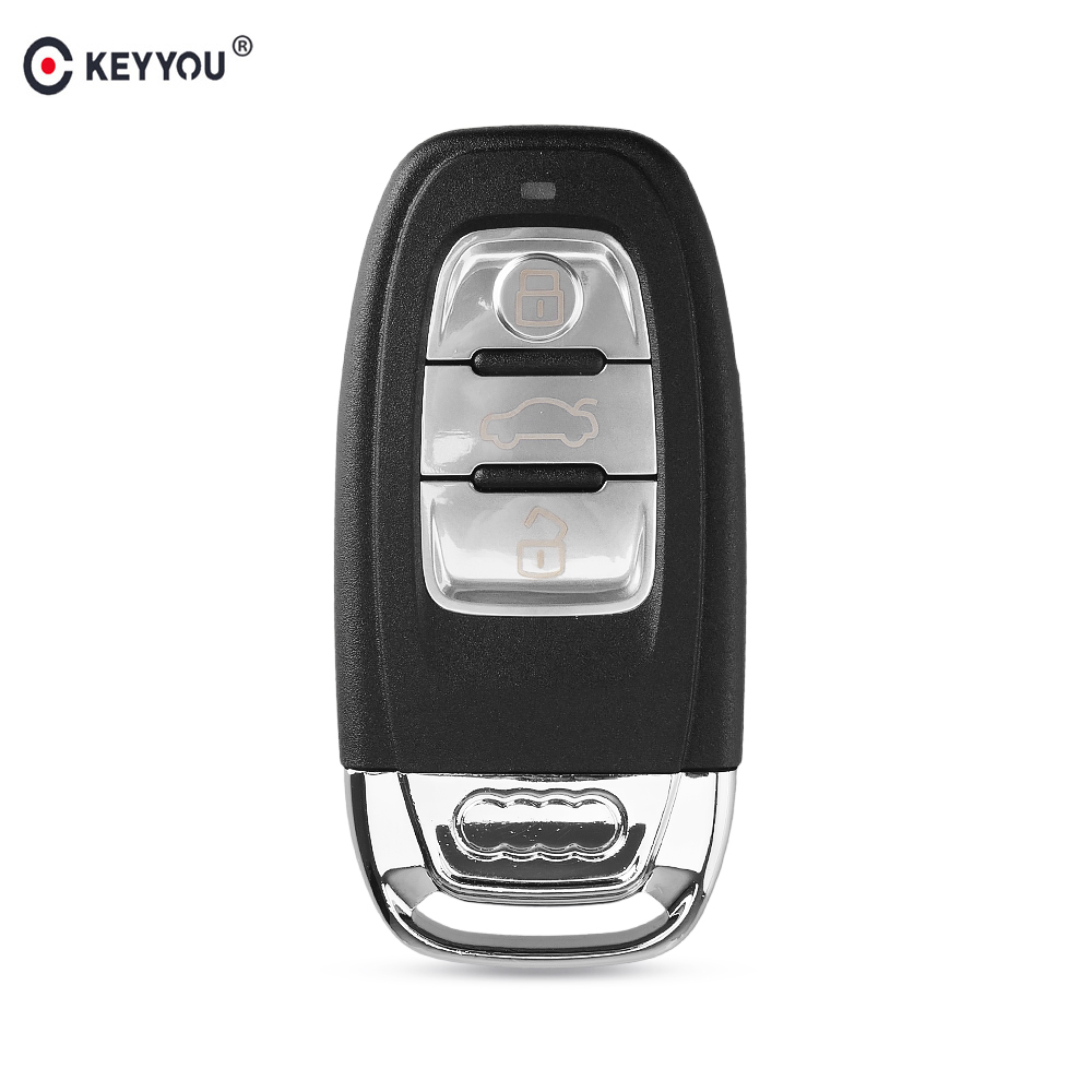KEYYOU For Audi A4l A3 A4 A5 A6 A8 Quattro Q5 Q7 A6 A8 Remote Key Shell Case Fob Replacement Car Key Shell 3 Buttons накладной светильник eglo fabella 95952