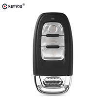 KEYYOU For Audi A4l A3 A4 A5 A6 A8 Quattro Q5 Q7 A6 A8 Remote Key Shell Case Fob Replacement Car Key Shell 3 Buttons