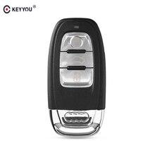 KEYYOU Funda de llave remota para coche, 3 botones, para Audi A4l, A3, A4, A5, A6, A8, Quattro, Q5, Q7, A6, A8