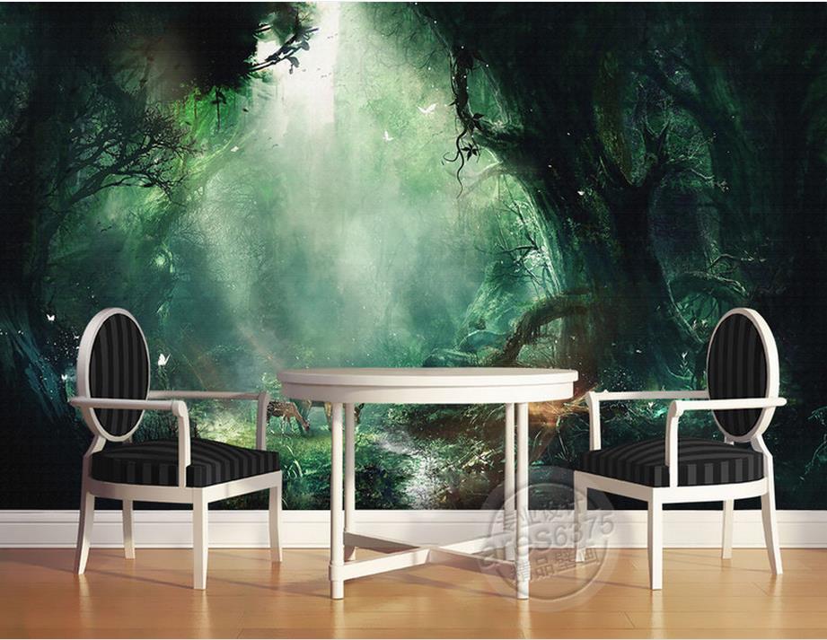 Personnaliser 3d papier peint mural peinture conte de fée forêt cerf peinture murale 3d photo papier peint papier peint papier peint de parede adesivo