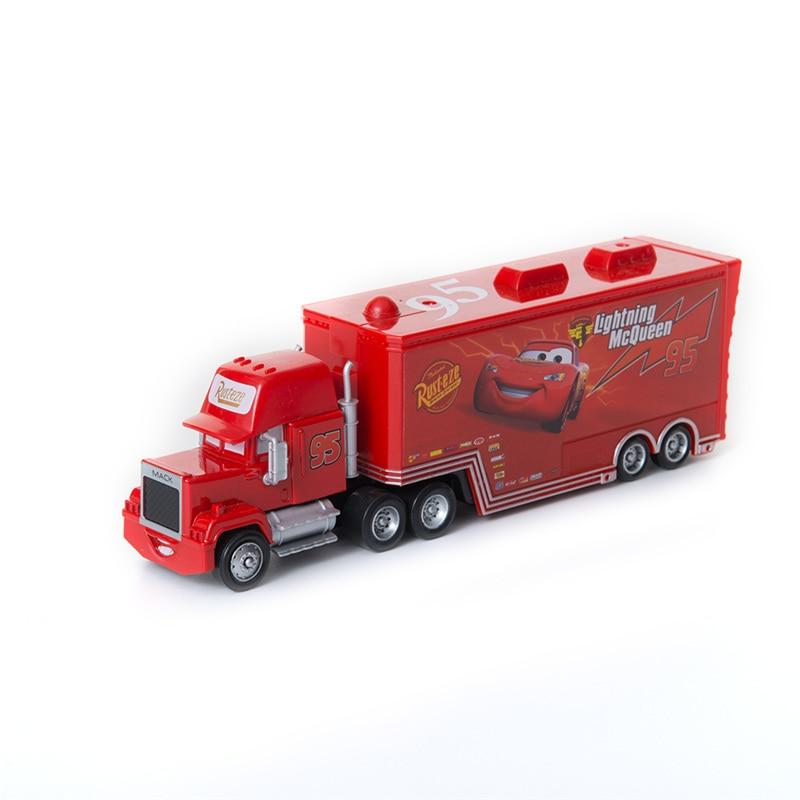 Disney Pixar Cars 2 3 Toys Lightning McQueen Truck Jackson Storm Cruz Ramirez Mack Uncle 1:55 Diecast Model Car Toy Kids Gift