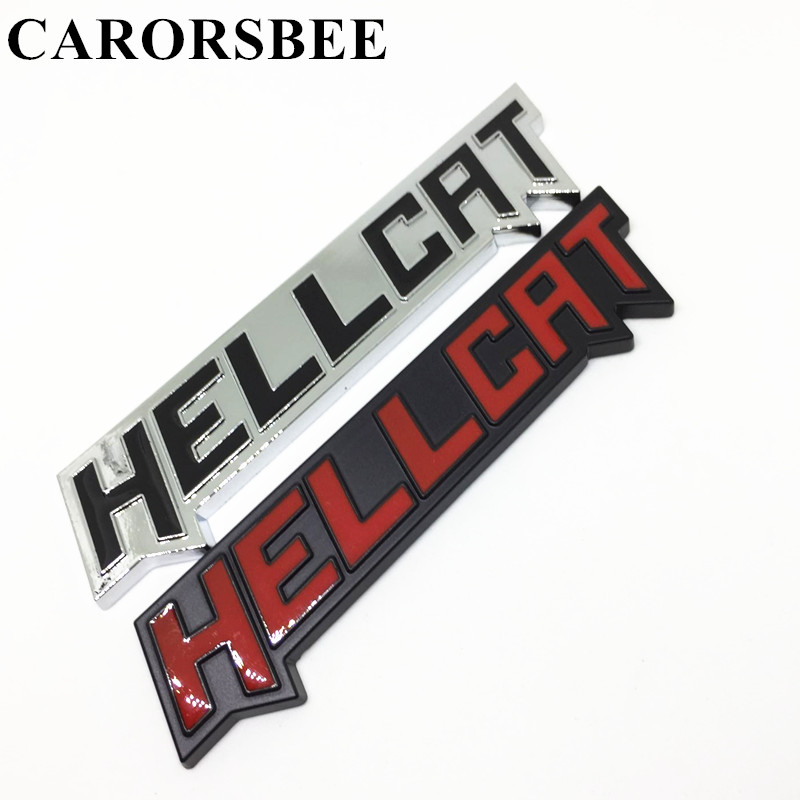 CARORSBEE 3D Metal HELLCAT Emblem Badge Car stickers Auto Rear Truck Motor displacement Decals car styling stickers Accessories 3d metal the punisher skull emblem badge car stickers and decals auto truck motorcycle for bmw benz audi mazda kia car styling