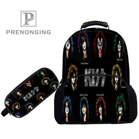 Custom 17inch KISS-Monster- Backpacks Pen Bags 3D Printing School Women Men Travel Bags Boys Girls Book Computers Bag#1031-01-51 Lahore