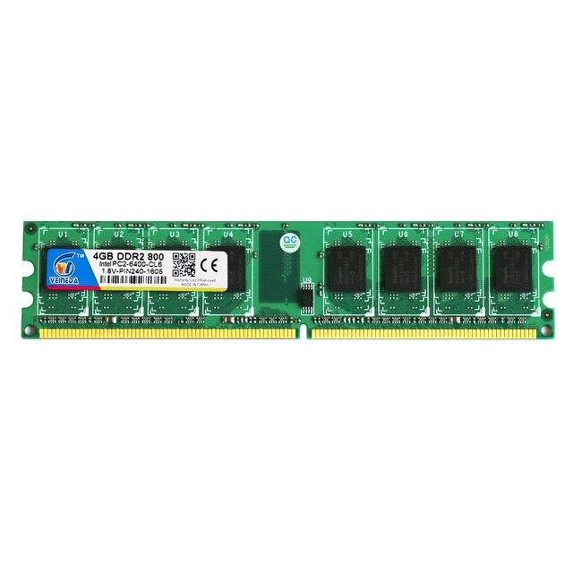 Veineda новая DDR2 800 МГц PC2 6400 16 Гб 4x4 ГБ оперативная память для настольных компьютеров оперативная память Совместимость Intel и AMD Mobo 1