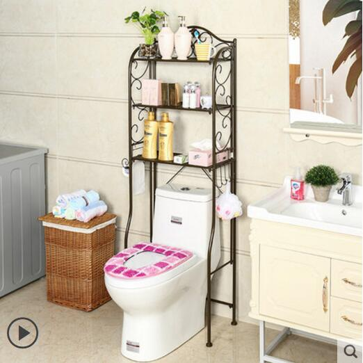 Image 4 - Bathroom shelf toilet shelf floor toilet shelf-in Storage Holders & Racks from Home & Garden
