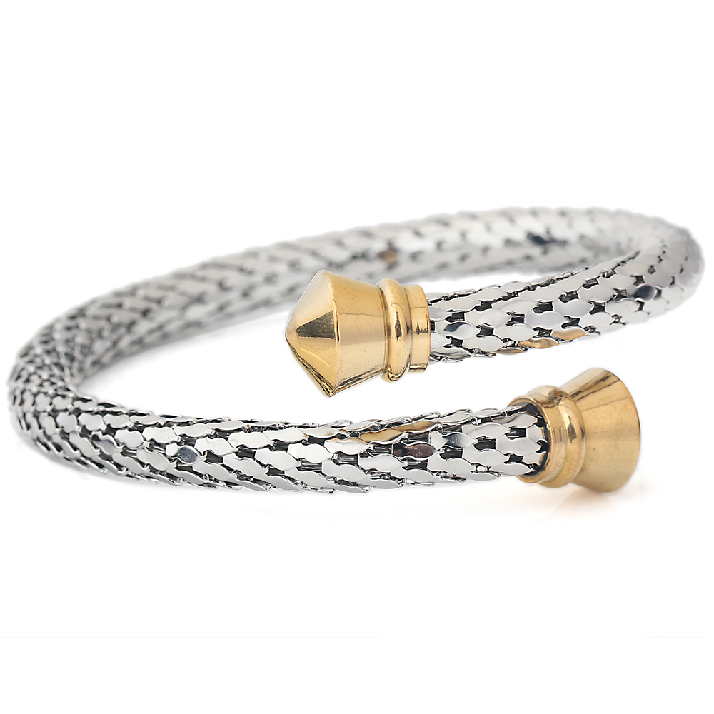 2 Colors Trendy Vintage Stainless Steel Skeleton Statement Cuff Lace Bangles & Bracelets for Women trendy faux crystal embellished cuff ring for women