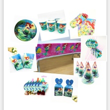 Mermaid Party Supplies Decoration Theme  Paper Cup Kid Happy Childrens Favorite Birthday Baby