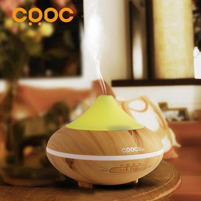 Crdc Горячая изменение Цвет ультразвуковой увлажнитель Эфирное масло диффузор аромалампу Ароматерапия Электрический Арома диффузор Mist чайник