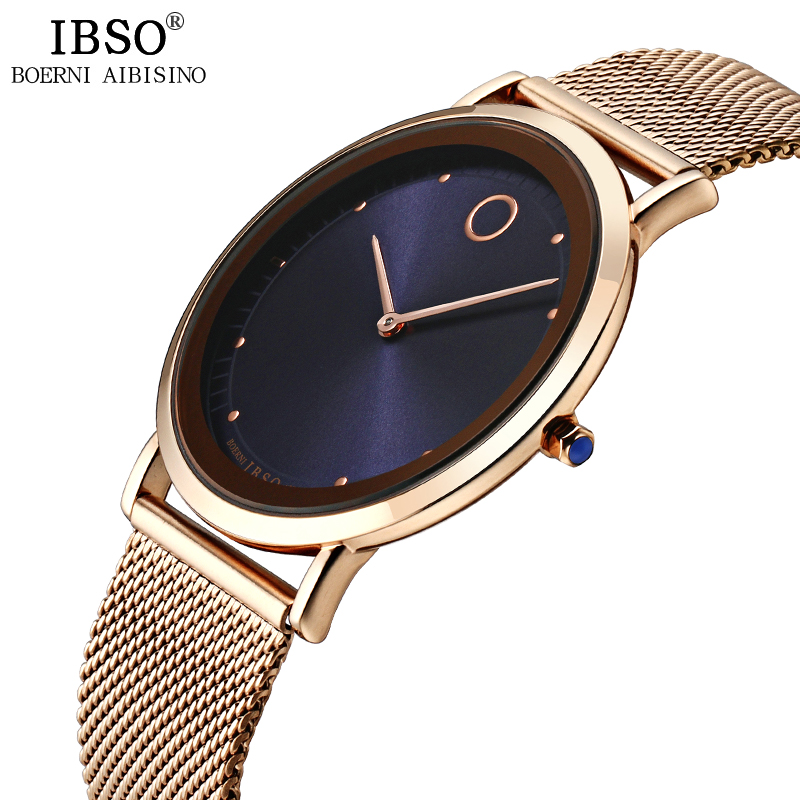 IBSO Mens Watches Stainless Steel Top Brand Luxury Ultra-thin Gold Quartz Wristwatches 2017 Fashion Watch Men Relogio Masculino цена и фото