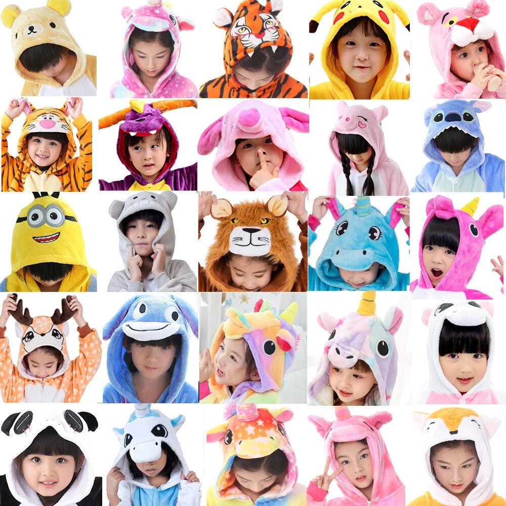 Children Pajamas Winter Sleepwear Boys Onesies Girls Pajama Set Kigurumi Cute Giraffe Unicron Dinosaur Animal Kids Pyjama Pijama