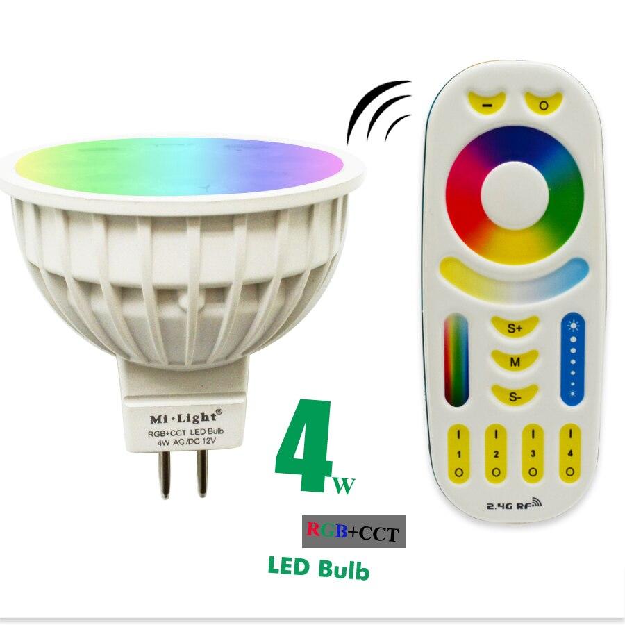 dc12v 2 4g wireless milight dimmable led bulb mr16 rgb cct led spotlight smart led lamp led. Black Bedroom Furniture Sets. Home Design Ideas