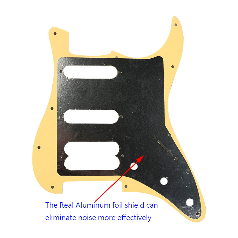 Pleroo Guitar Accessories left handed Pickguard with back plate for Fender Stratocaster Player Humbucker Standard ST HSS guitar in Guitar Parts Accessories from Sports Entertainment