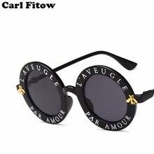 Rétro lunettes de soleil rondes femmes marque Designer anglais lettres  abeille cercle lunettes de soleil mode femme nuances Ocul. 489f68a27a39