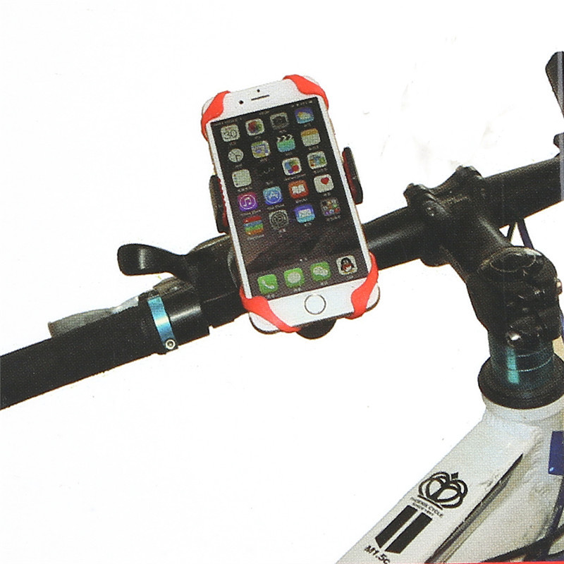 Universal 360 Rotating Bicycle Phone Holder Motorcycle Handlebar Clip Stand Mount Smart Mobile Cellphone Bracket Cycling