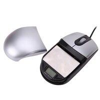 2 Em 1 de Alta Precisão 500g/0.01g USB Optical Mouse Estilo Ponderação Escala Jóias Balança Eletrônica de Desligamento Automático escala