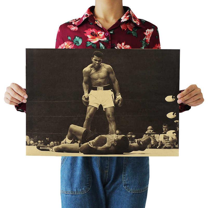 """""""Muhammad Ali"""" Винтажный Ретро плакат, крафт-бумага бумажные постеры для бара кафе рисунок для украшения интерьера постер фильма 51x35,5 см стикер на стену"""