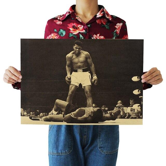 """""""Muhammad ali"""" di Poster D'epoca Retro Kraft Paper Poster Bar Cafe Decorazione d"""