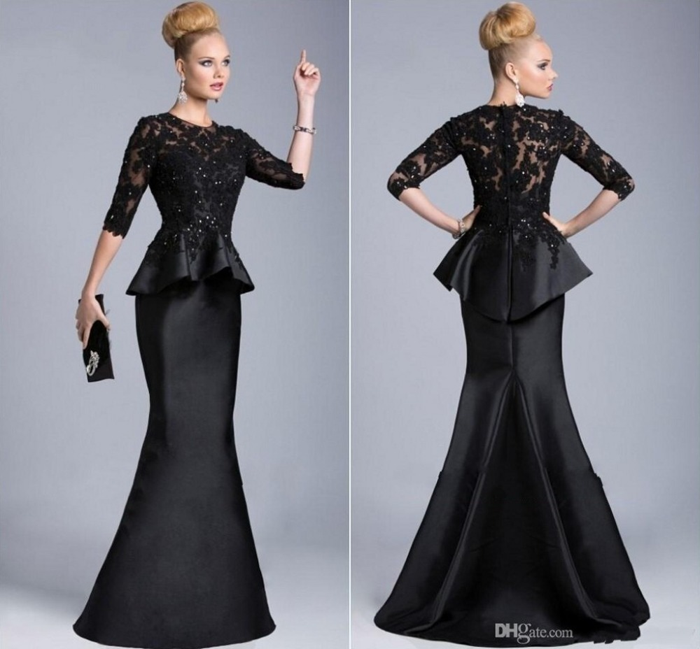 Popular Peplum Evening Gowns with Sleeves-Buy Cheap Peplum Evening ...