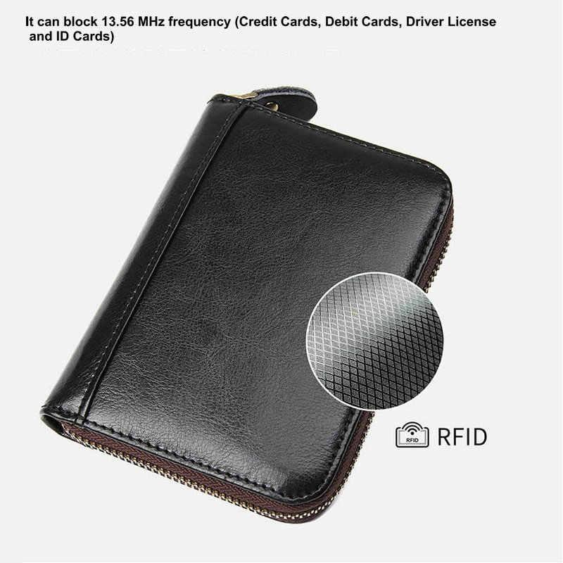 GENODERN большой емкости кошелек для кредитных карт Кожаный RFID кошелек для женщин
