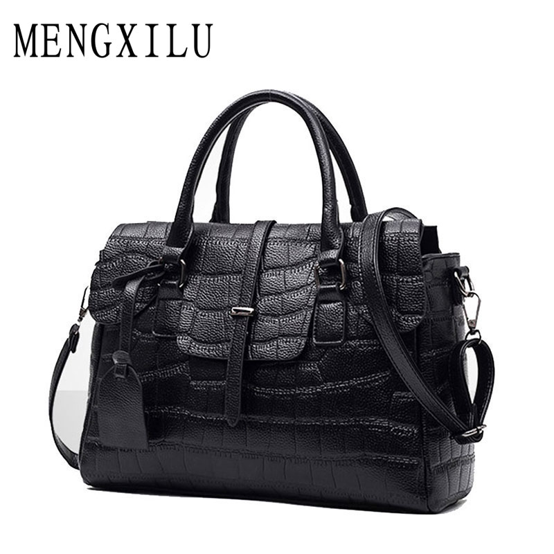 High Quality PU Leather Women's Handbags Shoulder Bag Ladies Hand Bags Stone Casual Women Bag Large Capacity Handbag 2017 Sac