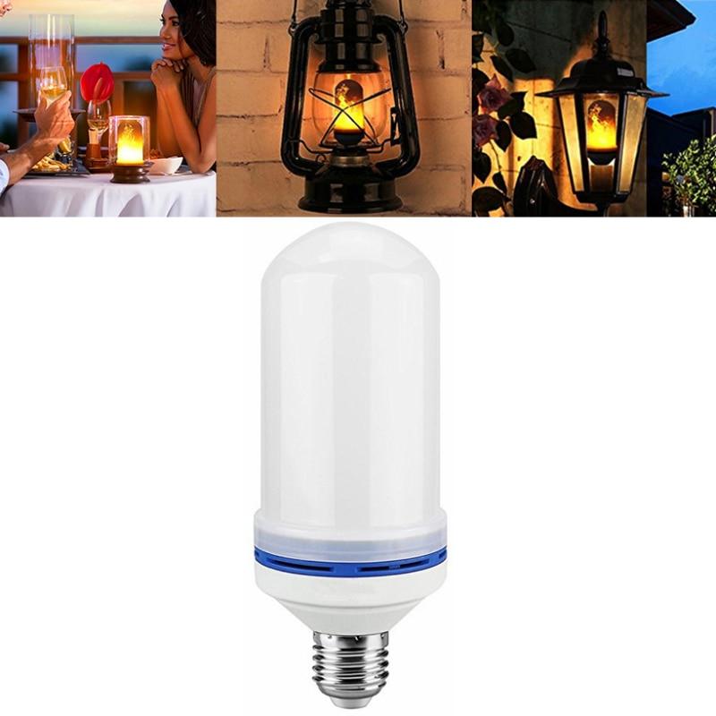 Dustproof Simulated Fire Burning Light 1300K 6W Wearproof Flame Effect E27 LED Bulb Cafe Bar Party Decorative Lamp