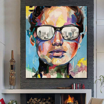 Hand Painted Abstract Fine Art Dallas Portrait Oil Painting Pictures On Canvas Modern Home Decorative for Living Room no Framed