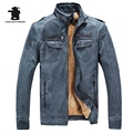 New Men's Fur Leather Jacket Winter Fashion Thickeding Plus Size PU Leather Motorcycle Jacket Coat Men For Men Pull Homme C8F818