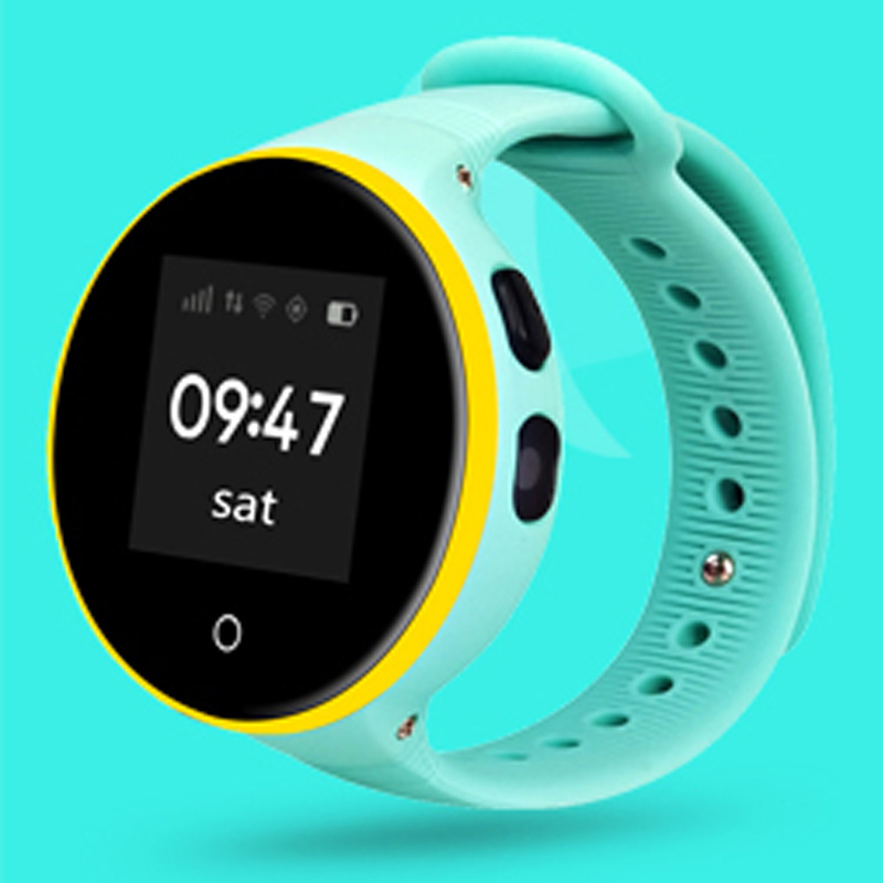Lovely round GPS kids smart watch phone with SOS GEO fence voice chat best christmas gift for children pk xiaomi gps kids watch
