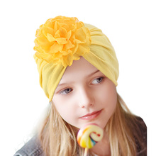 New Kids Turban Hat with Flower Children Cotton Blend Newborn Beanie Stylish Knot Photo Props Baby Shower Gift