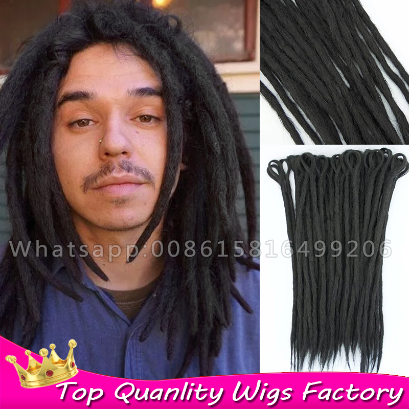Black Dendy Dreadlock Faux Locs Crochet Hair Man Dreadlocks