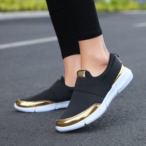 Image 4 - スニーカー女性の加硫の靴ファッションカジュアルスニーカー女性フラット女性の靴 zapatillas mujer
