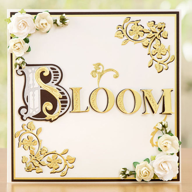 Wild Flower Lace Edge Frame Alphabet Numbers Metal Cutting Dies Stencils For DIY Scrapbooking Decoration Embossing Craft Die Cut in Cutting Dies from Home Garden