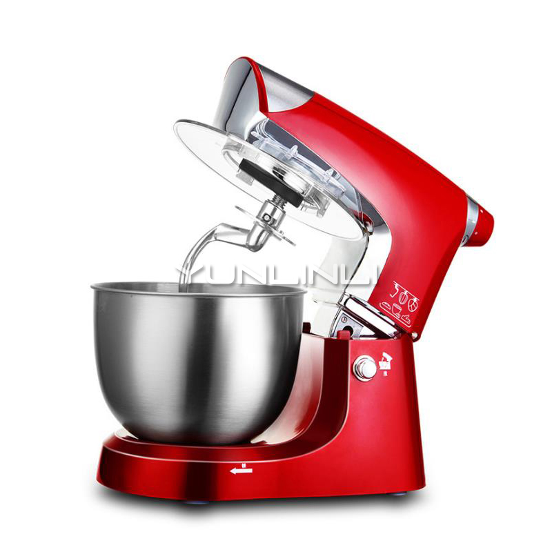 Household Dough Mixer 1000W Dough Kneading Machine 5L Multi-functional Food Mixer Full-automatic Eggbeater SC-203Household Dough Mixer 1000W Dough Kneading Machine 5L Multi-functional Food Mixer Full-automatic Eggbeater SC-203