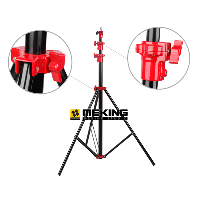 Selens 300cm 9.8ft Light Stand Heavy Duty support system tripod SGB-3000A Air Cushion Lightstand  цены