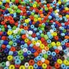 4 Mm Round Opaque Mixed Colors Glass Seed Beads For Sewing Appliques 4500 Pcs Per Lot