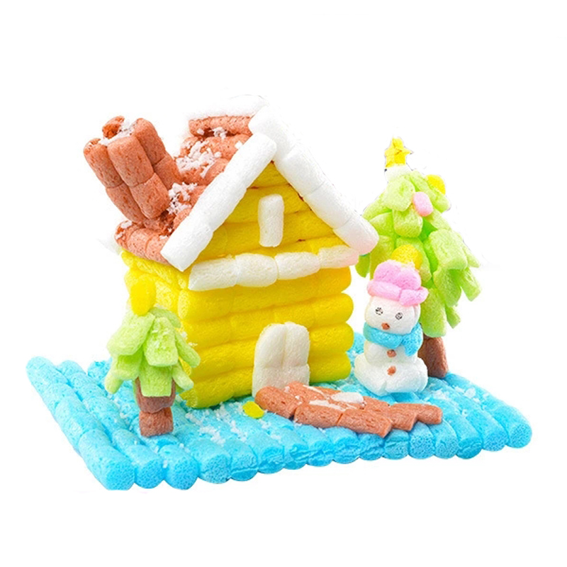 300pcs/bag Children's Handmade Diy Magic Corn Grain Assembled Color Building Blocks Educational Toys Sticky Model Kit