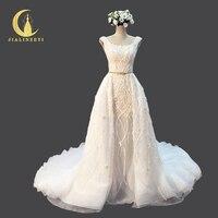 Рейн Настоящее образец сексуальные роскошные Мода Полный Бусины Блёстки Zuhair Murad свадебное платье торжественные платья