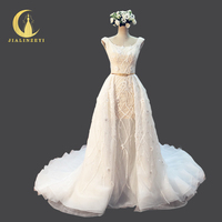 Rhine Real Sample Sexy Luxurious Fashion Full Beads Sequins Zuhair Murad Bridal Wedding Gown wedding dresses