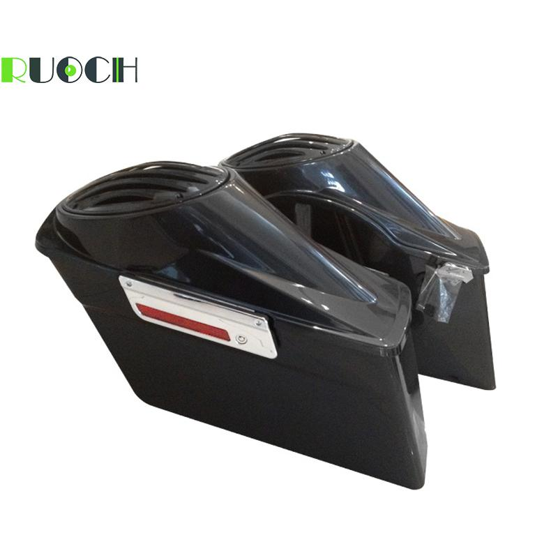 Motorcycle Hard Saddlebags For Harley Touring 93-13 With Latches Saddlebag Speaker Lids Road King Road Street Electra Glide