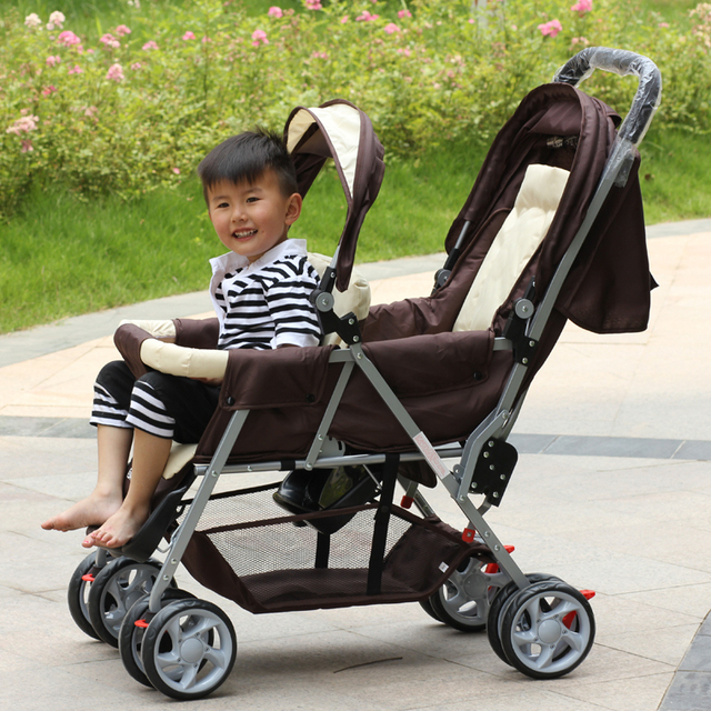 Hot Sale Packaging Size: 45*27*98cm,Portable and Safety Child Twins Strollers,Net Weight: About 10.2kg,Babies Double Carriage
