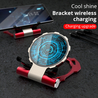 Metal Iron Man Wireless Charger For Samsung S9 S8 iPhone Xs/8plus/X Fold Phone Stand Wireless Charging Bracket For Huawei Xiaomi
