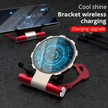 Metal Iron Man bezprzewodowy ładowarka do samsung s9 S8 iPhone Xs/8 plus/X składany stojak na telefon bezprzewodowy uchwyt ładowania dla Huawei Xiaomi