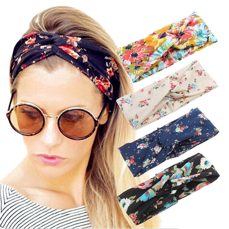 women headband boho floral style