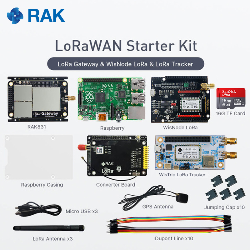 LoraWAN Starter Kit, RAK831 with Raspberry Pi and WisNode LoRa,SX1301 Chip,433/868/915MHz, Wireless Spread Spectrum Transmission holographic belt purse
