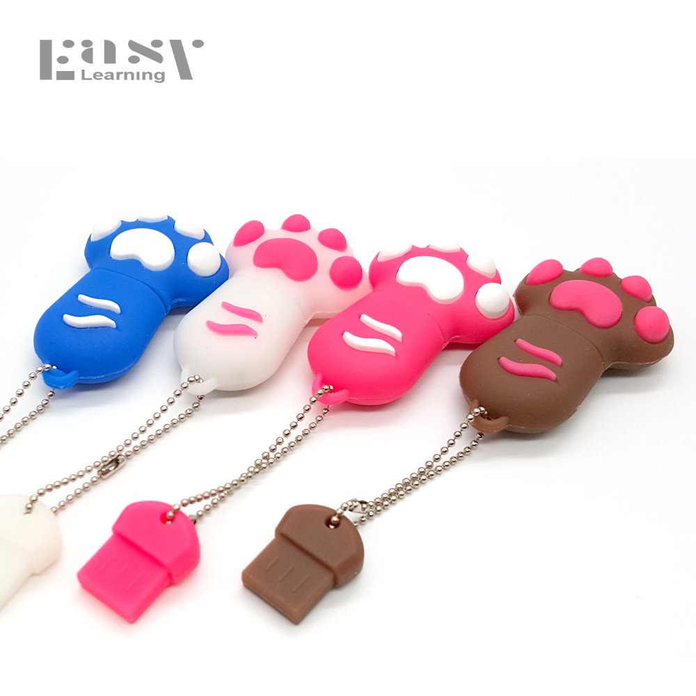 Easy Learning Claw USB 2.0 Colorful Cat Paws USB Flash Drives 4GB 8GB 16GB 32GB 64GB Pen Drive Pendrive Memory USB stick cat paw usb 2 0 flash drive brown red 8gb