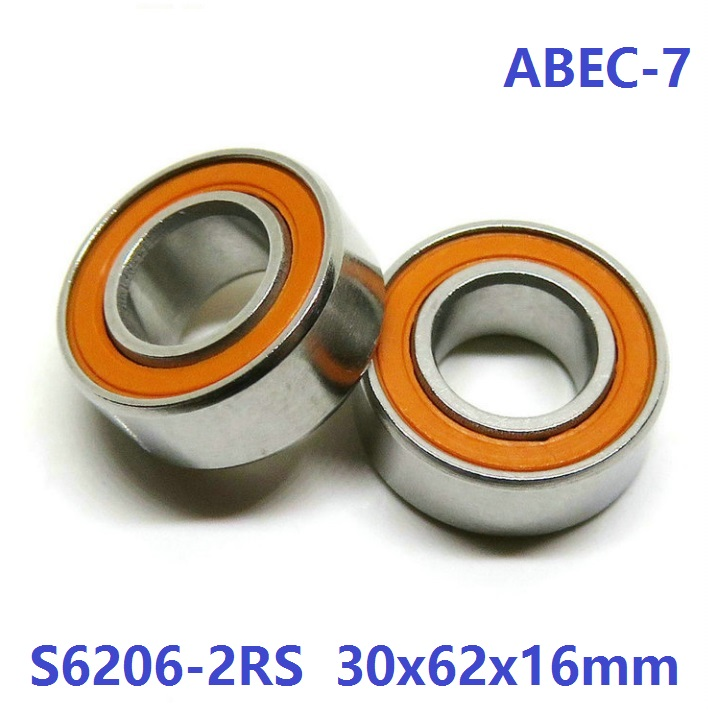 5pcs ABEC-7 S6206-2RS S6206 2RS 30x62x16 mm Stainless Steel hybrid Si3N4 ceramic bearing fishing reel 30*62*16 S 6206RS 6206 brand new xaar printhead 126 80pl for printer page 2