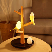 USB Charging LED Table Lamp Tree Branch 3200K Infrared Sensor Night Light No Flickering for Home GHS99