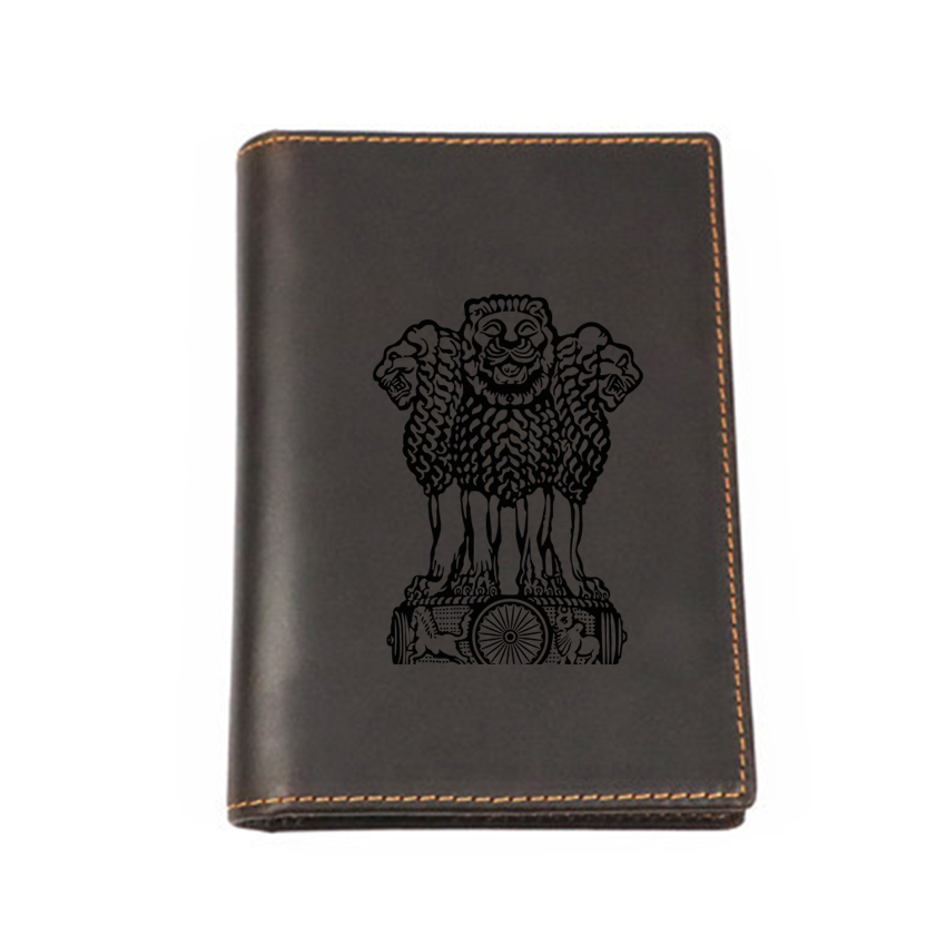 India Passport Covers Vintage Card Wallet Genuine Leather Multi functional Card Holders Custom Name Passport Travel