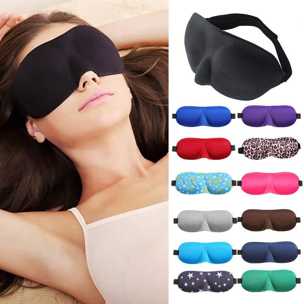 1 pçs 3d máscara de sono natural dormir máscara de olho capa sombra de olho remendo de olho masculino macio portátil venda de viagem eyepatch